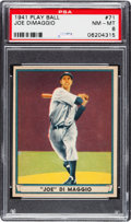 Baseball Cards:Singles (1940-1949), 1941 Play Ball Joe DiMaggio #71 PSA NM-MT 8....