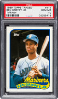 Baseball Cards:Singles (1970-Now), 1989 Topps Traded Tiffany Ken Griffey #41T PSA Gem Mint 10. ...