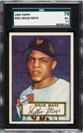 Baseball Cards:Singles (1950-1959), 1952 Topps Willie Mays #261 SGC 70 EX+ 5.5....