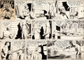 Original Comic Art:Comic Strip Art, Frank Godwin Rusty Riley Sunday Comic Strip Original Art dated 8-28-55 (King Features Syndicate, 1955)....
