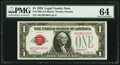 Small Size:Legal Tender Notes, Fr. 1500 $1 1928 Legal Tender Note. PMG Choice Uncirculated 64.. ...