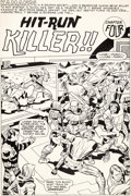 Original Comic Art:Splash Pages, Jack Kirby and D. Bruce Berry Kamandi #22 Splash Page 16Original Art (DC, 1974)....