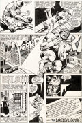 Original Comic Art:Panel Pages, Frank Miller and Joe Rubinstein Daredevil #163 Story Page 18Hulk Original Art (Marvel, 1982)....