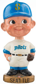 Baseball Collectibles:Others, 1967-72 Seattle Pilots Gold Base Nodder. ...