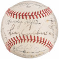 Autographs:Baseballs, 1945 Boston Red Sox Team Signed Baseball (23 Signatures). ...