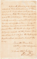 Political:Small Paper (pre-1896), George Washington: An Important Revolutionary War Letter withMilitary Subject Matter....