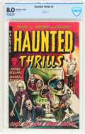 Golden Age (1938-1955):Horror, Haunted Thrills #5 (Farrell, 1953) CBCS VF 8.0 Off-white to whitepages....