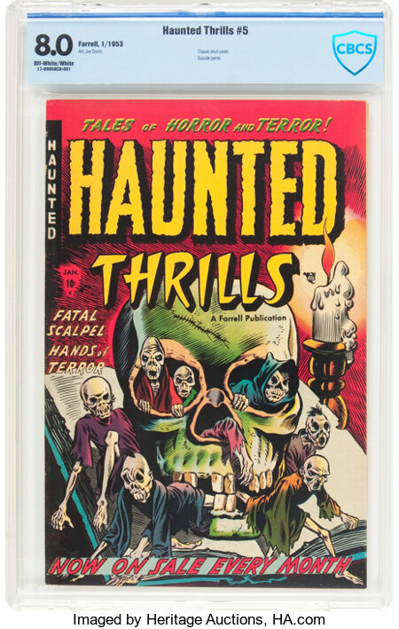 Haunted Thrills #5 (Farrell, 1953) CBCS VF 8.0 Off-white to white pages....