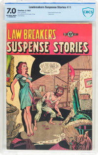 Lawbreakers Suspense Stories #11 (Charlton, 1953) CBCS FN/VF 7.0 Off-white to white pages