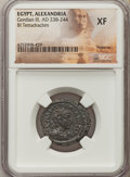 Ancients:Roman Provincial , Ancients: EGYPT. Alexandria. Gordian III (AD 238-244). BItetradrachm. NGC XF....