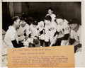 Baseball Collectibles:Photos, 1939 Lou Gehrig Announces Retirement to Teammates Original NewsPhotograph, PSA/DNA Type 1....