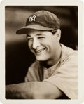 Baseball Collectibles:Photos, Late 1930's Lou Gehrig Original Photograph by George Burke, PSA/DNAType 1....