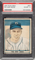 Baseball Cards:Singles (1940-1949), 1941 Play Ball Pee Wee Reese #54 PSA EX-MT 6....