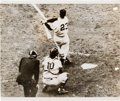 Baseball Collectibles:Photos, 1951 Bobby Thomson Hits Pennant-Winning Home Run News Photograph,PSA/DNA Type 1. ...