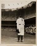 "Baseball Collectibles:Photos, 1948 ""Babe Ruth's Farewell"" Chunky Harris Original News Photograph,PSA/DNA Type 1. ..."