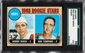 Baseball Cards:Singles (1960-1969), 1968 Topps Johnny Bench - Reds Rookies #247 SGC 96 Mint 9....