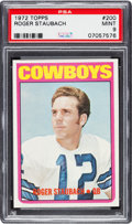Football Cards:Singles (1970-Now), 1972 Topps Roger Staubach #200 PSA Mint 9....