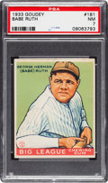 Baseball Cards:Singles (1930-1939), 1933 Goudey Babe Ruth #181 PSA NM 7....