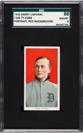 Baseball Cards:Singles (Pre-1930), 1909-11 T206 Sweet Caporal Ty Cobb (Red Portrait) SGC 88 NM/MT8....