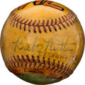 Autographs:Baseballs, 1948 Babe Ruth Single Signed Baseball....