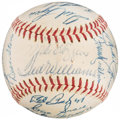 Autographs:Baseballs, 1957 Boston Red Sox Team Signed Baseball (24 Signatures). ...