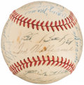 Autographs:Baseballs, 1947 Boston Red Sox Team Signed Baseball (27 Signatures)....