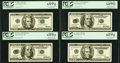 Error Notes:Major Errors, Mixed Denomination Error Set of Four.. Fr. 2083-A $20 1996 FederalReserve Note. PCGS Gem New 65PPQ and Gem New 66PPQ.. ... (Total: 4notes)