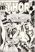 Original Comic Art:Covers, Jack Kirby and Vince Colletta Thor #136 Cover Original Art (Marvel, 1967)....