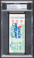 Baseball Collectibles:Tickets, 1966 Frank Robinson Signed World Series Full Ticket - W.S. MVP....