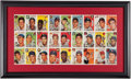 Baseball Collectibles:Others, 1954 Sports Illustrated Card Sheet Display. ...