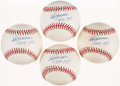"Autographs:Baseballs, Don Zimmer Single Signed Baseballs Lot of 4 - With ""1954-1957""Inscriptions...."