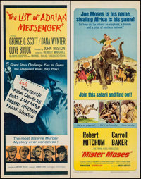 """The List of Adrian Messenger & Others Lot (Universal, 1963). Inserts (4) (14"""" X 36""""). Mystery. ... (Total:..."""