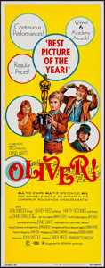"Movie Posters:Academy Award Winners, Oliver! (Columbia, 1969). Insert (14"" X 36""). Academy Award Style. Musical.. ..."