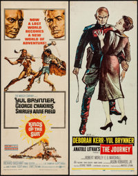 "Kings of the Sun & Other Lot (United Artists, 1963). Inserts (2) (14"" X 36""). Adventure. ... (Total: 2..."