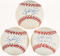 Autographs:Baseballs, Trio of Gaylord Perry Single Signed Baseballs (3). ...