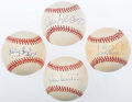 Autographs:Baseballs, Hall of Fame Single Signed Baseball Lot of Four (4) - Includes:Sutton, McCovey, Robinson, Ford....