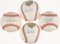 Autographs:Baseballs, New York Mets Greats Single Singed Baseball Collection (4). ...