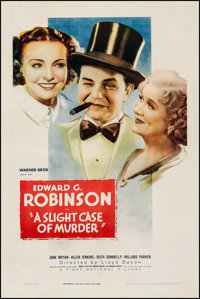 "A Slight Case of Murder (Warner Brothers, 1938). One Sheet (27"" X 41""). Comedy"