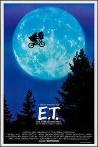 """E.T. The Extra-Terrestrial (Universal, 1982). One Sheet (27"""" X 40.5""""). Bicycle Style. Science Fiction"""