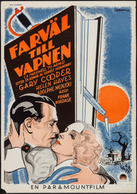 """A Farewell to Arms (Paramount, 1932). Swedish One Sheet (27.5"""" X 39.5""""). Drama"""