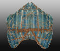 Lapidary Art:Carvings, Blue Calcite Wall Sconces. Andes Mountains.Argentina. South America. ... (Total: 2 Items)