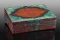Lapidary Art:Boxes, Sonora Sunset Box. Stone Source: Milpillas Mine, Sonora,Mexico. Artist: Konstantin Libman. ...
