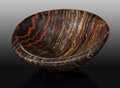 Lapidary Art:Carvings, Tiger Iron Bowl. Ord Ranges. Pilbara. WesternAustralia. ...