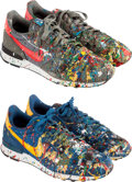 Other:Contemporary, Nike X Mr. Brainwash. MBW Shoe (Internationalist); 2 pairs,Court Blue/Del Sol; Dark Pewter/Light Crimson-Sail-Velvet Br...(Total: 4 Items)