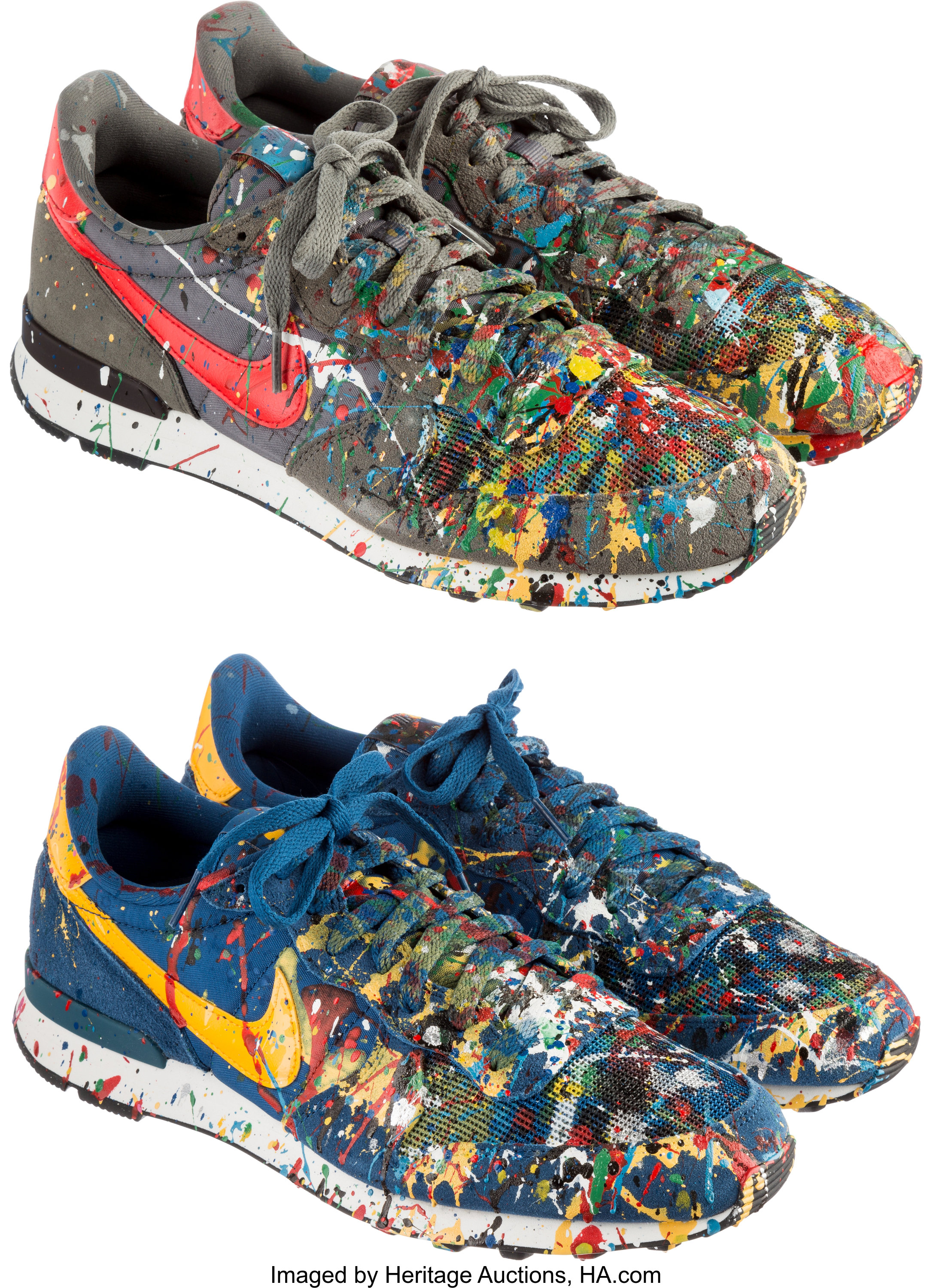 low priced 9a9bd 8b798 Nike X Mr. Brainwash. MBW Shoe (Internationalist)  2 pairs, Court   Lot   77025   Heritage Auctions