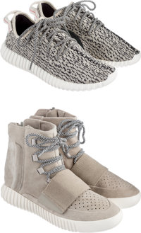 Adidas X Yeezy Boost 350 OG, Boost 750 OG; 2 pairs, Turtle Dove/Blue Grey-White; Brown/Carbon White-Lig