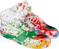 Other:Contemporary, Nike X Mr. Brainwash. Just Did It (Nike Air Force 1, High),White/White, 2007. Size 10, In original, painted box, signed...(Total: 2 Items)