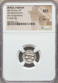 Ancients:Greek, Ancients: MYSIA. Parium. Ca. 4th century BC. AR hemidrachm. NGC MS,edge cut....