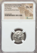 Ancients:Greek, Ancients: MACEDONIAN KINGDOM. Alexander III the Great (336-323 BC).AR drachm. NGC Choice XF....