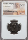 Ancients:Roman Provincial , Ancients: EGYPT. Alexandria. Antoninus Pius (AD 138-161). BItetradrachm. NGC Choice VF....